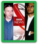 به ترتیب از سمت راست آقایان دکتر آرش حجازی - مهندس بی.بی.سی - سیدعطاءالله مهاجرانی